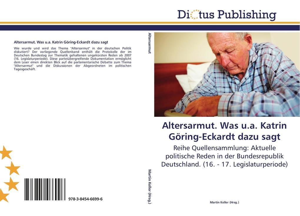 Altersarmut. Was u.a. Katrin Göring-Eckardt daz...