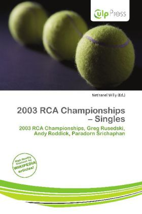 2003 RCA Championships - Singles als Taschenbuc...