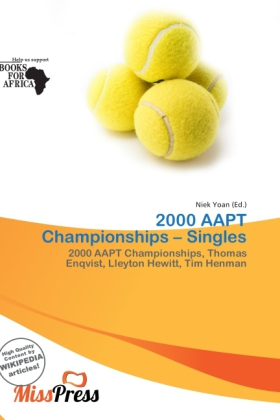2000 Aapt Championships - Singles als Taschenbu...