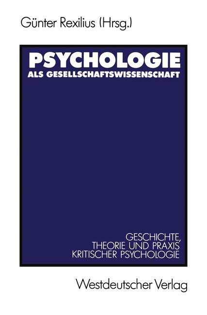 Psychologie als Gesellschaftswissenschaft als B...