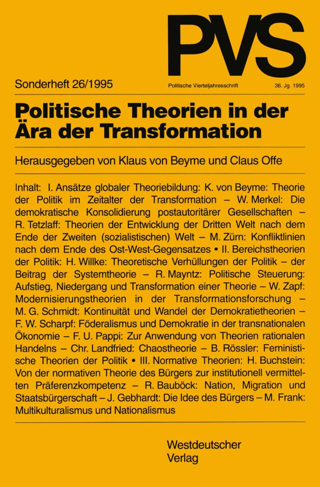 Politische Theorien in der Ära der Transformati...