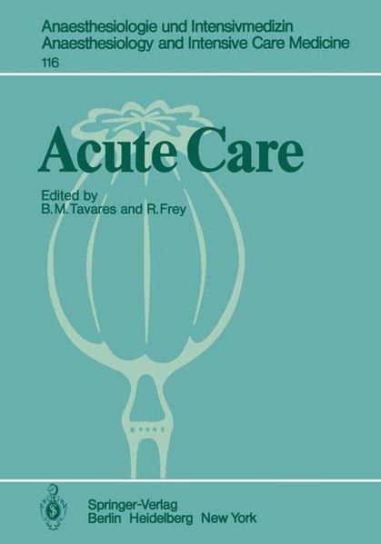 Acute Care als Buch von