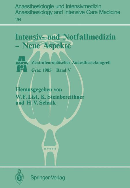 Intensiv- und Notfallmedizin - Neue Aspekte als...