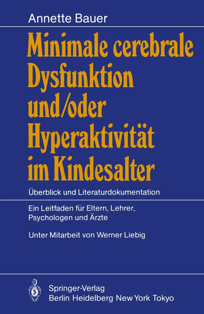 Minimale cerebrale Dysfunktion und/oder Hyperak...