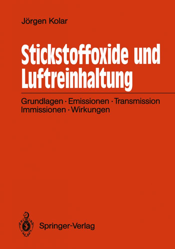 Stickstoffoxide und Luftreinhaltung als Buch vo...