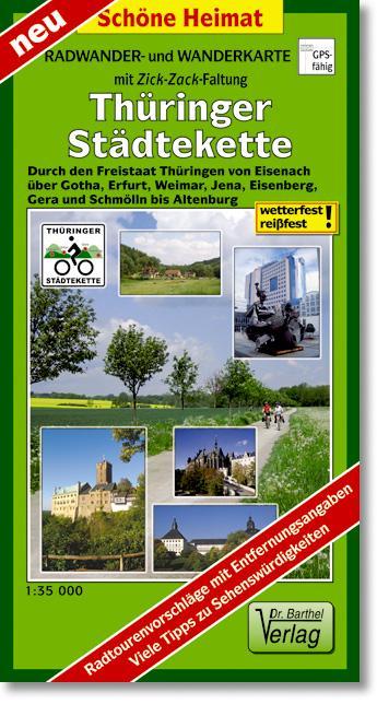Thüringer Städtekette Radwander- und Wanderkart...