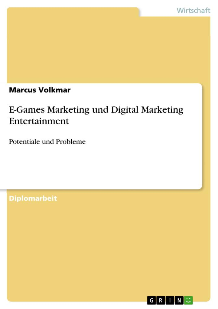 E-Games Marketing und Digital Marketing Enterta...