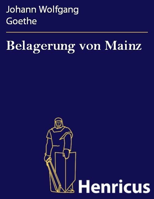 Belagerung von Mainz als eBook Download von Joh...
