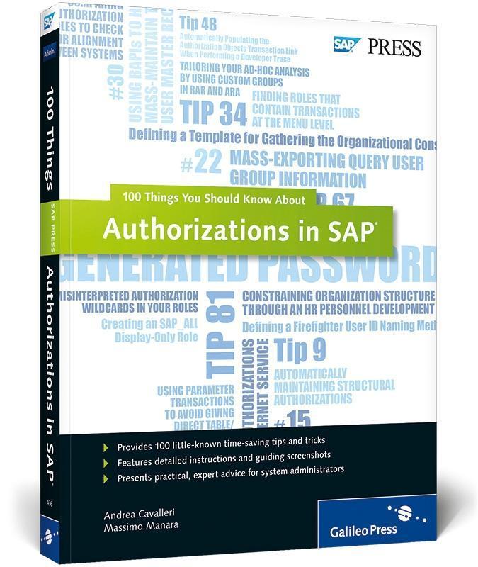 Authorizations in SAP als Buch von Andrea Caval...
