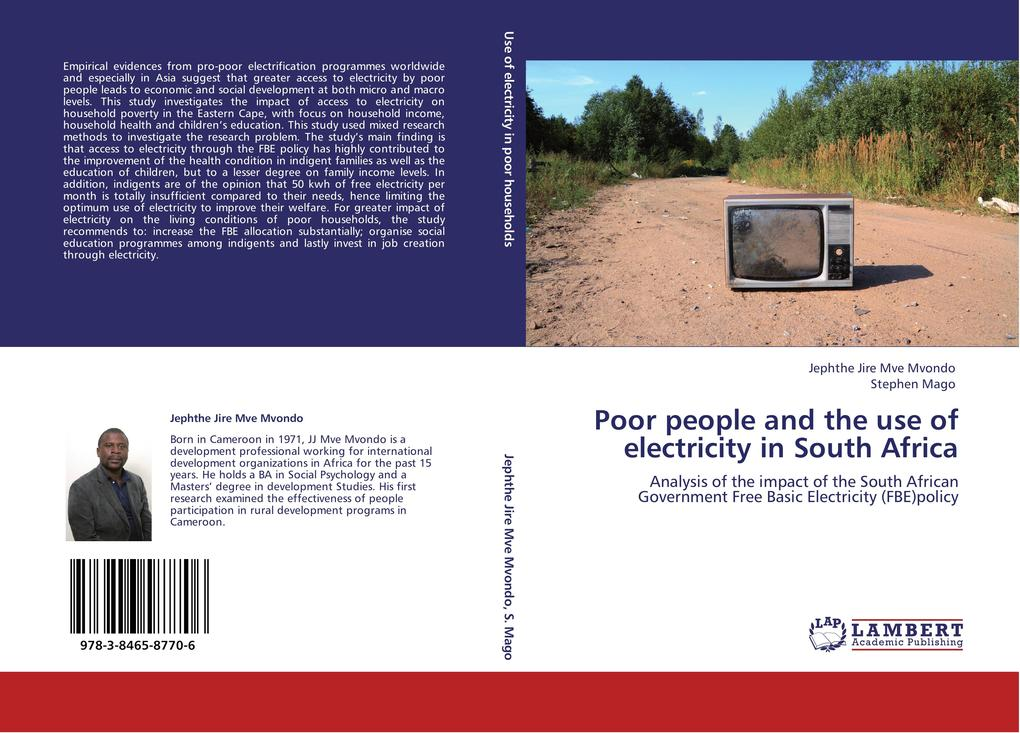 Poor people and the use of electricity in South...