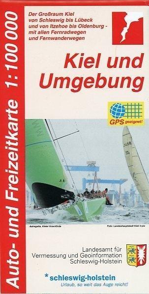 Auto- und Freizeitkarte Kiel und Umgebung 1 : 1...