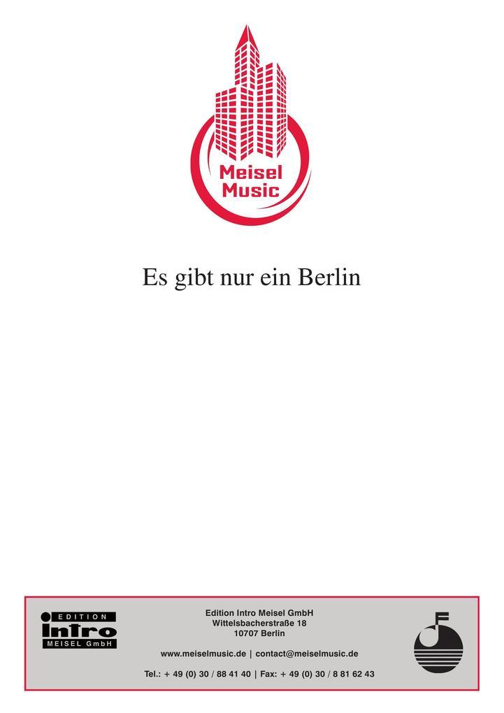 Es gibt nur ein Berlin als eBook Download von W...