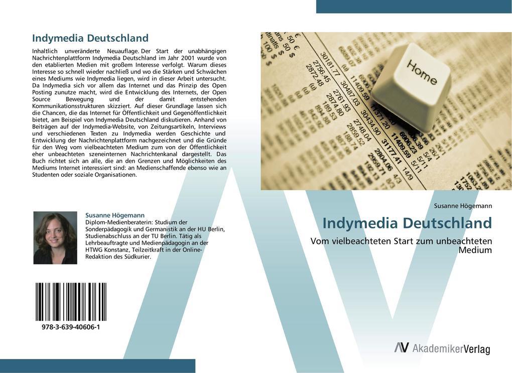 9783639406061 - Susanne Högemann: Indymedia Deutschland als Buch von Susanne Högemann - Buch