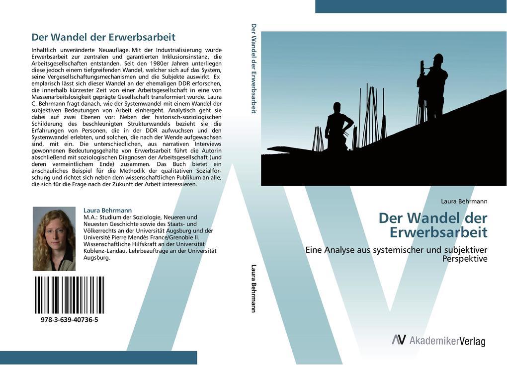 9783639407365 - Laura Behrmann: Der Wandel der Erwerbsarbeit als Buch von Laura Behrmann - Libro