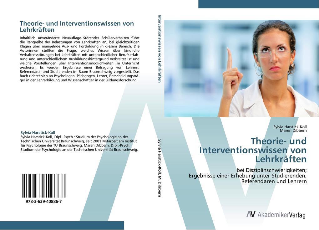 9783639408867 - Sylvia Harstick-Koll, Maren Dibbern: Theorie- und Interventionswissen von Lehrkräften als Buch von Sylvia Harstick-Koll, Maren Dibbern - Buch