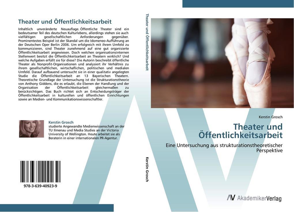 9783639409239 - Kerstin Grosch: Theater und Öffentlichkeitsarbeit als Buch von Kerstin Grosch - Buch