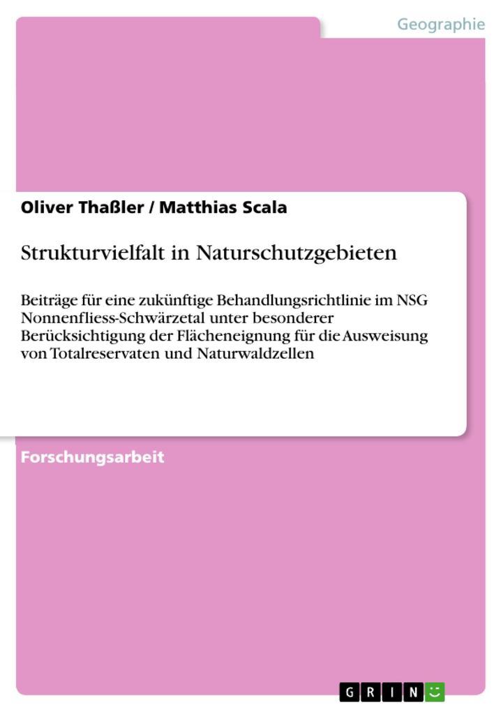 Strukturvielfalt in Naturschutzgebieten als eBo...