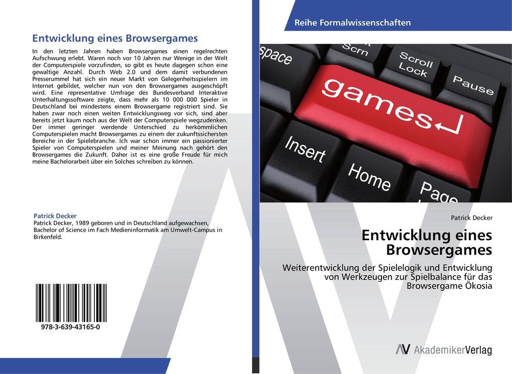 Entwicklung eines Browsergames als Buch von Pat...