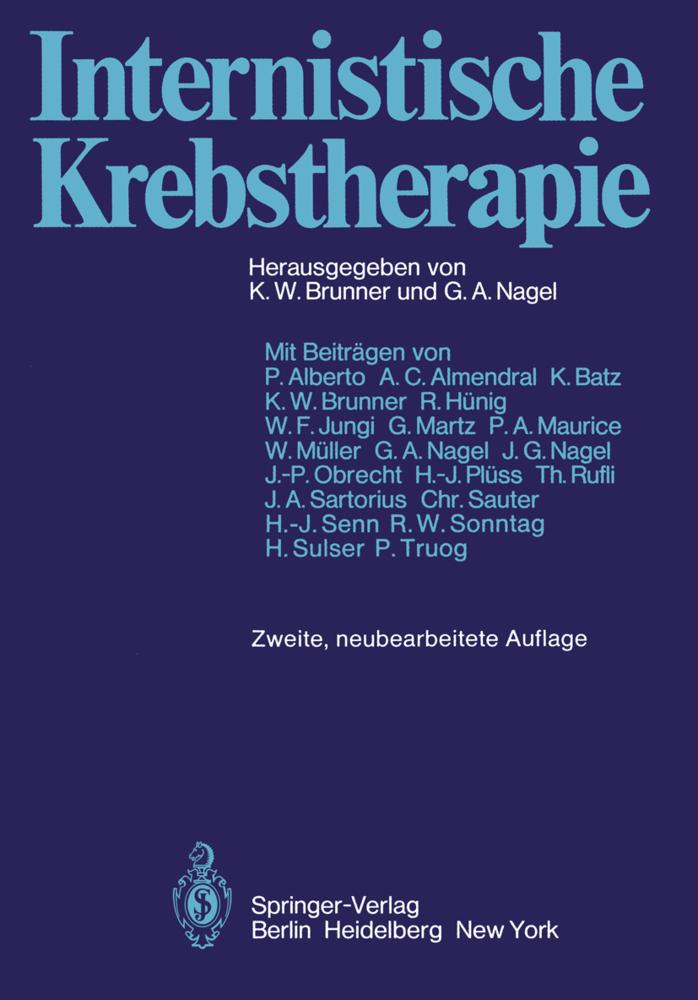 Internistische Krebstherapie als Buch von P. Al...