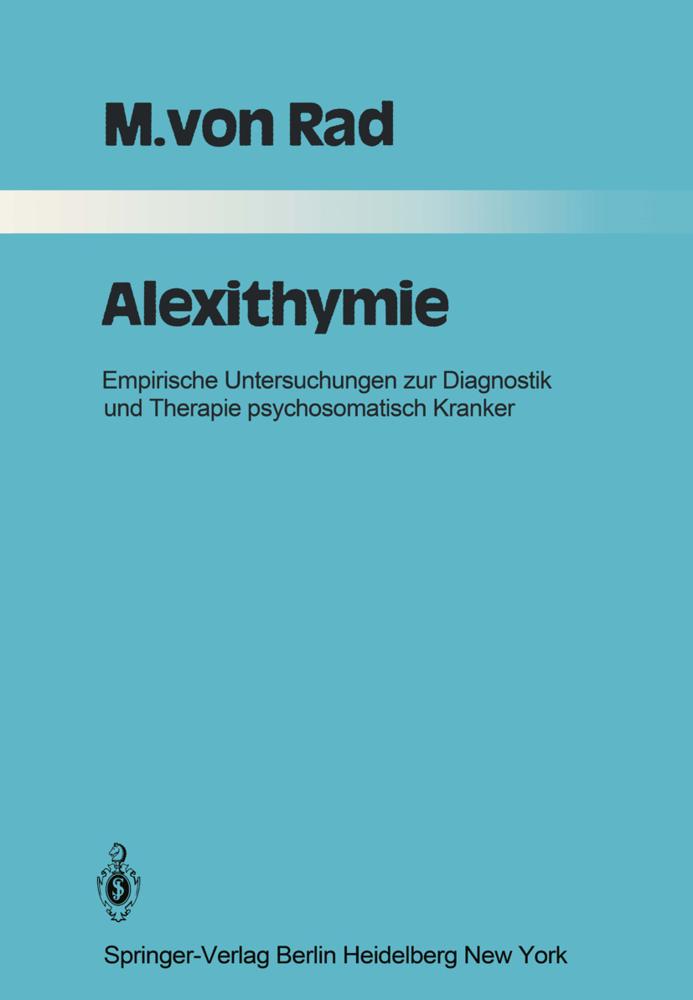 Alexithymie als Buch von M. v. Rad