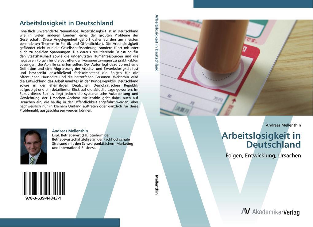 Arbeitslosigkeit in Deutschland als Buch von An...