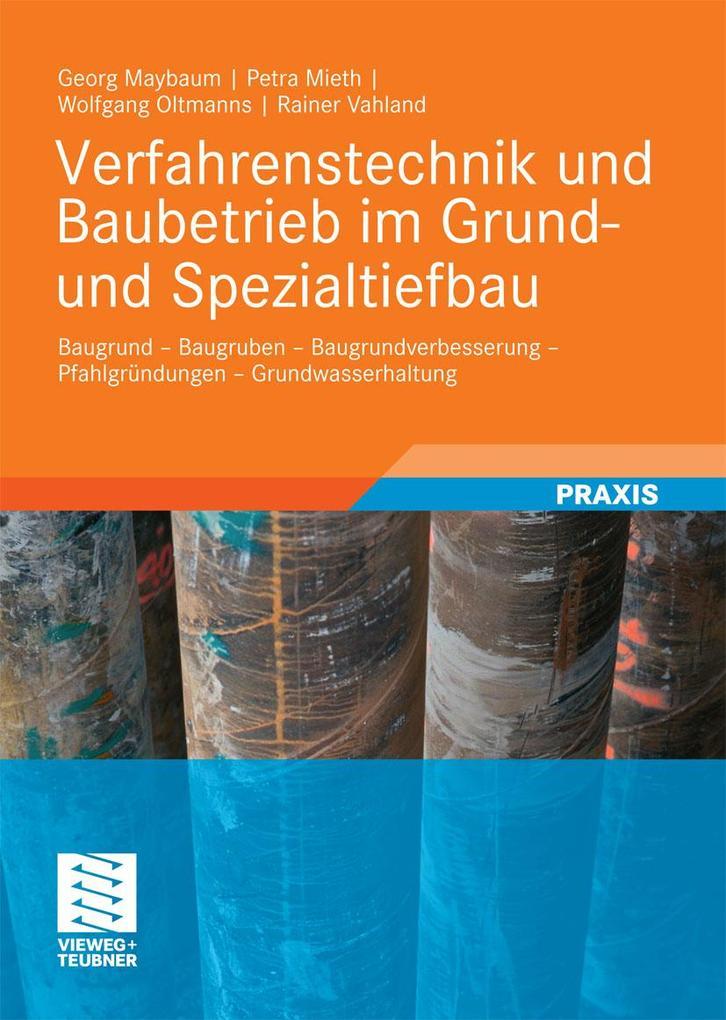 Verfahrenstechnik und Baubetrieb im Grund- und ...