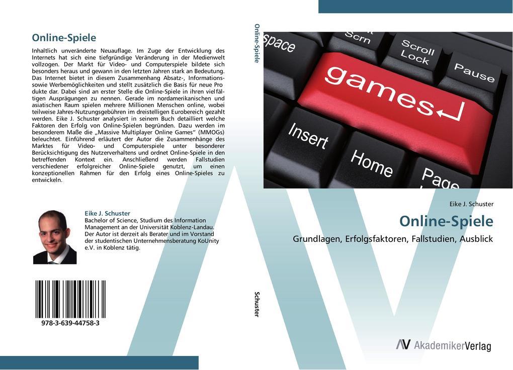 Online-Spiele als Buch von Eike J. Schuster