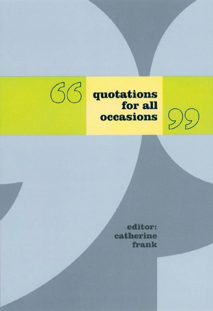 Quotations for All Occasions als eBook Download...