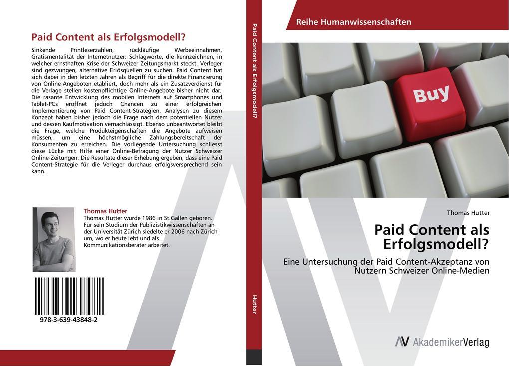 Paid Content als Erfolgsmodell? als Buch von Th...