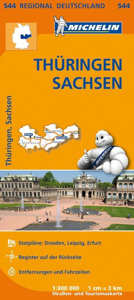 Michelin Regionalkarte Thüringen / Sachsen 1 : ...