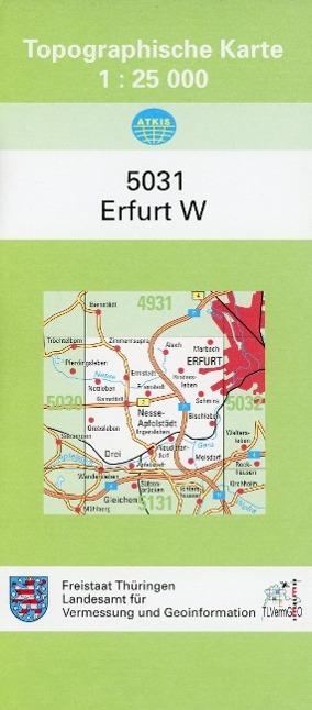 Erfurt West 1 : 25 000 als Buch von