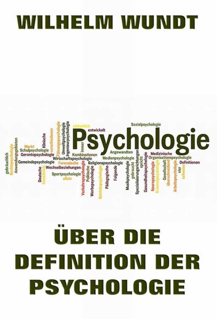 Über die Definition der Psychologie als eBook D...