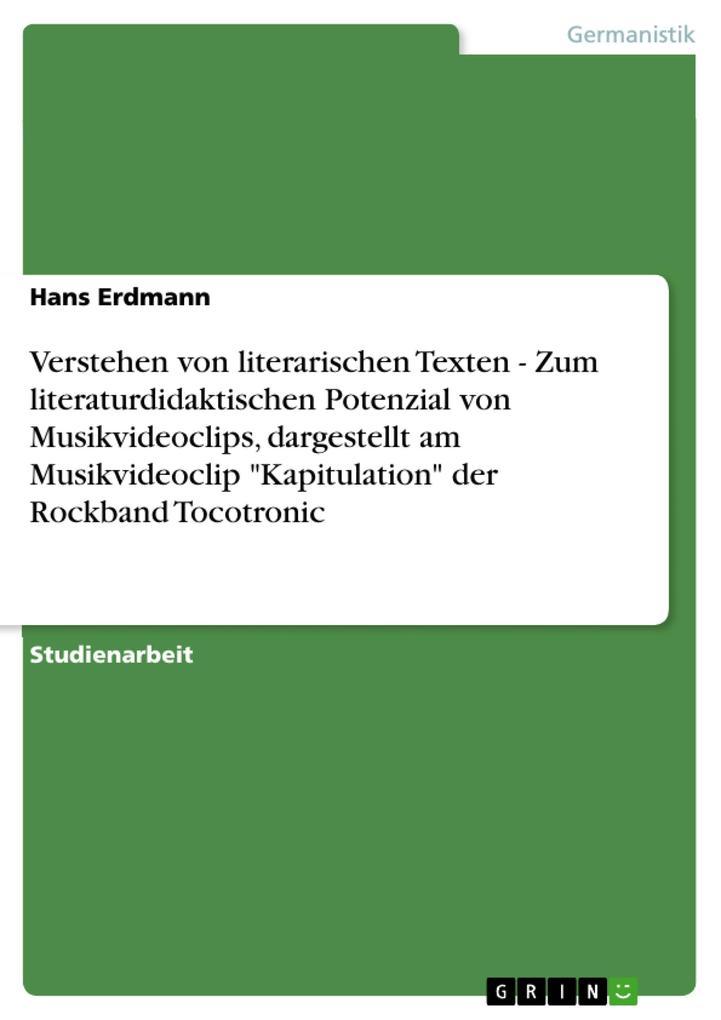 Verstehen von literarischen Texten - Zum litera...