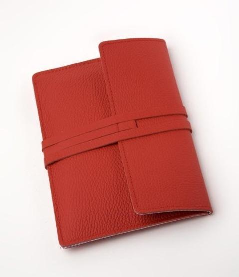 E-Reader-Ledertasche Fifth Avenue Rot