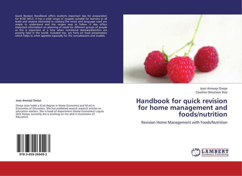 Handbook for quick revision for home management...