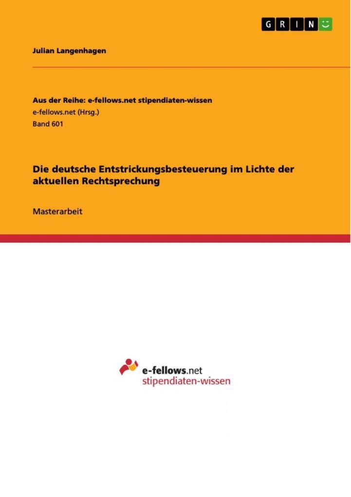 Die deutsche Entstrickungsbesteuerung im Lichte...