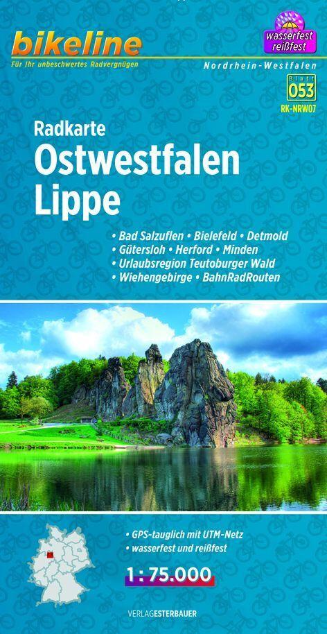 Bikeline Radkarte Ostwestfalen, Lippe 1 : 75.00...