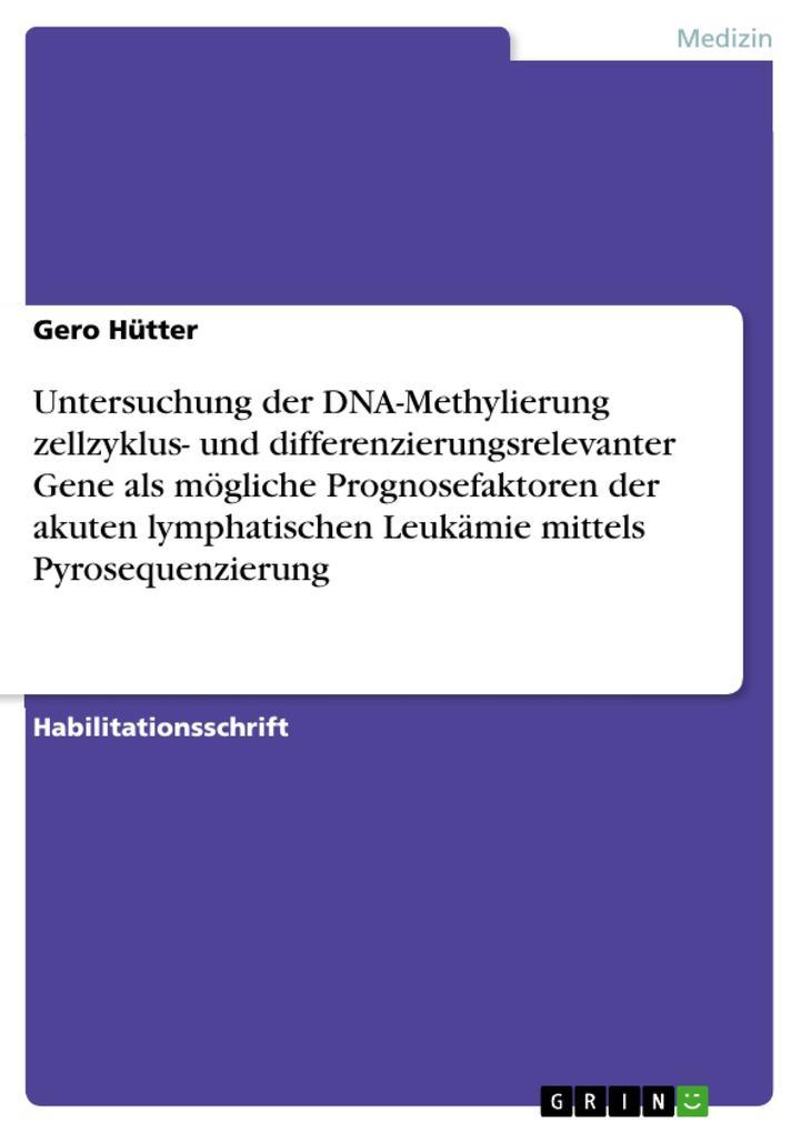 Untersuchung der DNA-Methylierung zellzyklus- u...