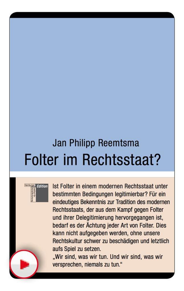 Folter im Rechtsstaat? Jan Philipp Reemtsma Author