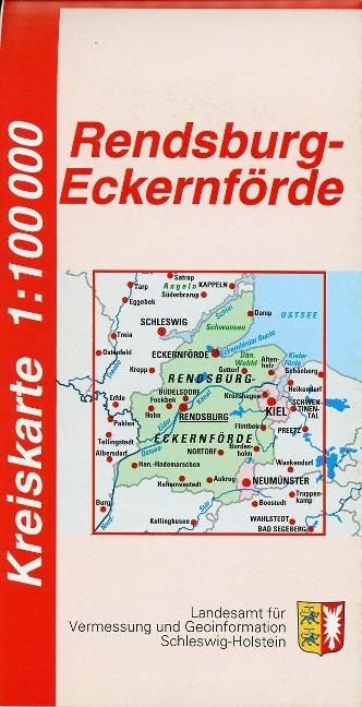 Rendsburg-Eckernförde Kreiskarte 1 : 100 000 al...