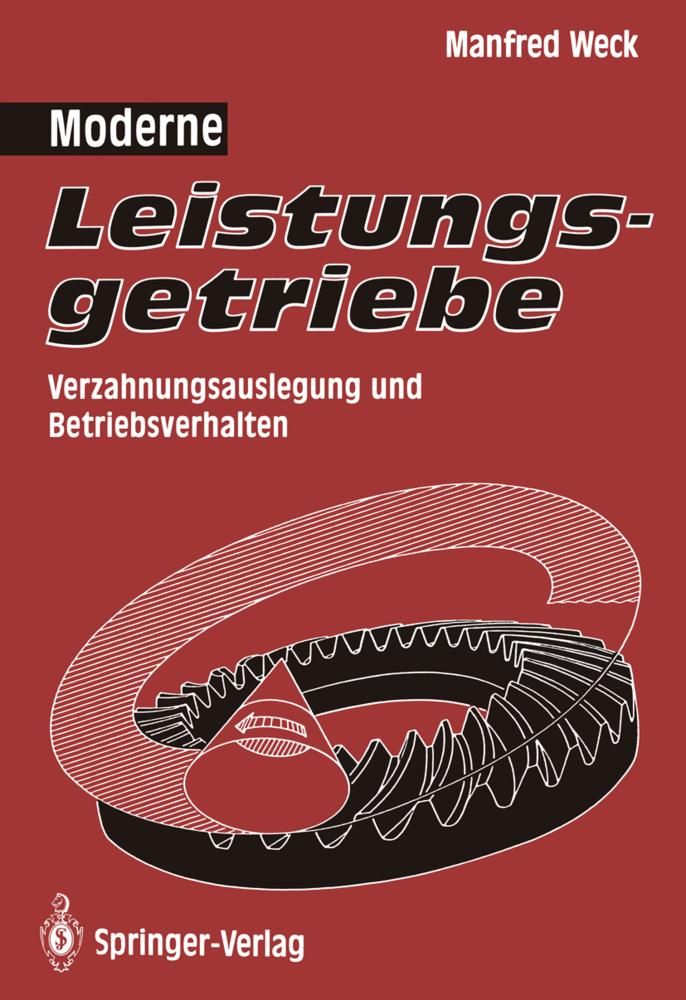 Moderne Leistungsgetriebe als Buch von Manfred ...