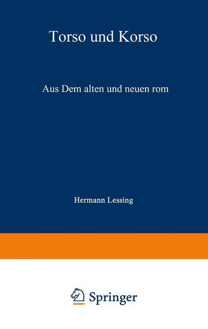 Torso und Korso als Buch von Hermann Lessing