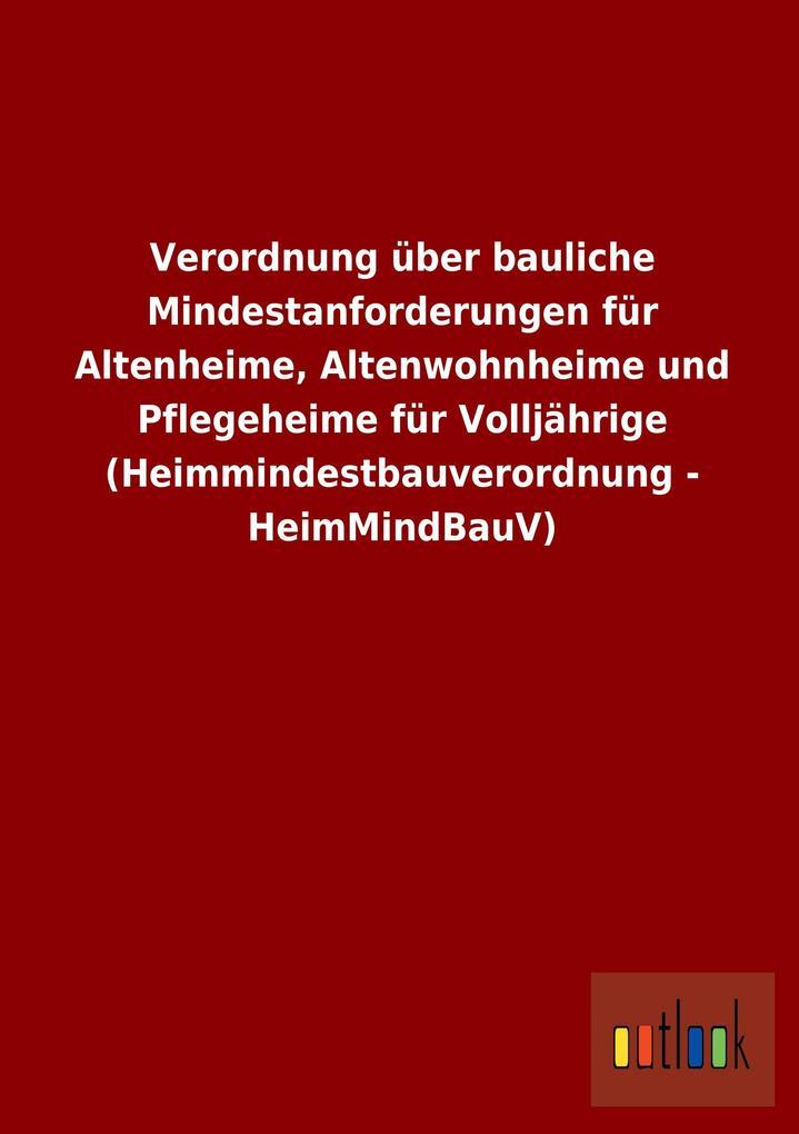 Verordnung über bauliche Mindestanforderungen f...