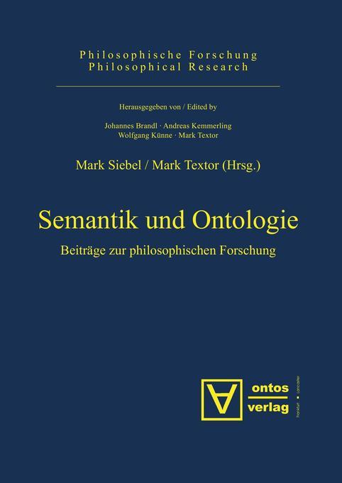 Semantik und Ontologie als Buch von