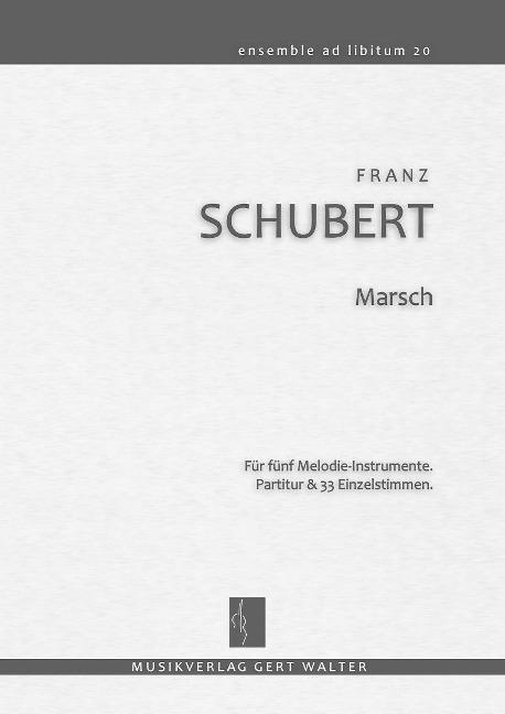 Marsch als Buch von Franz Schubert