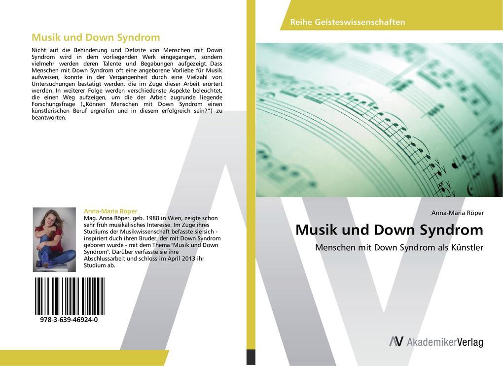 Musik und Down Syndrom als Buch von Anna-Maria ...