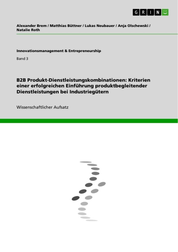 B2B Produkt-Dienstleistungskombinationen: Krite...