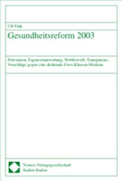 Gesundheitsreform 2003 als Buch von Ulf Fink