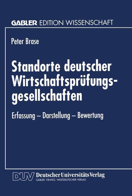 Standorte deutscher Wirtschaftsprüfungsgesellsc...