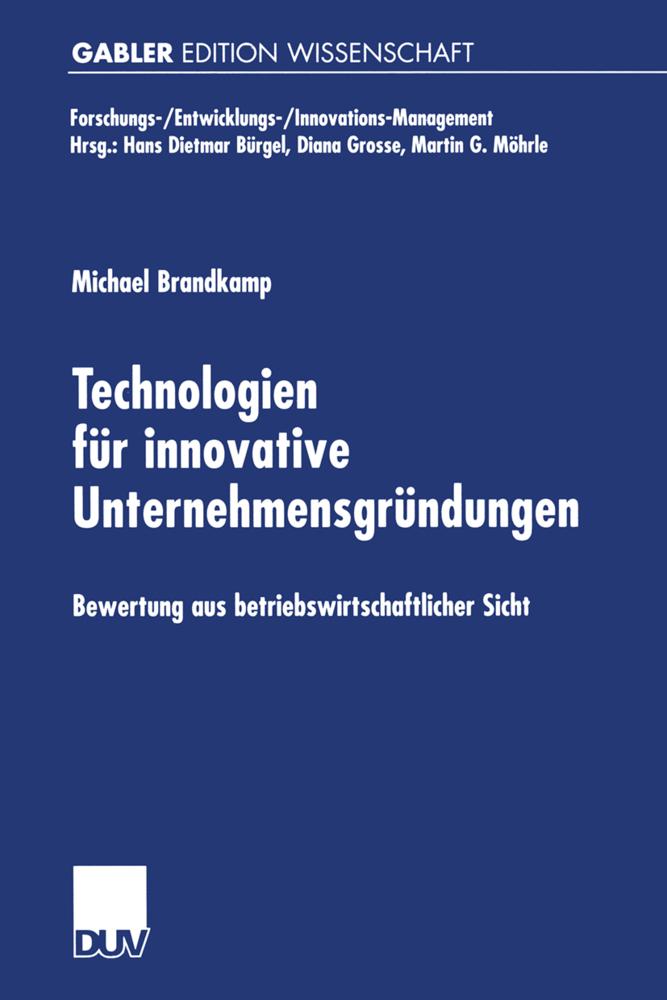 Technologien für innovative Unternehmensgründun...